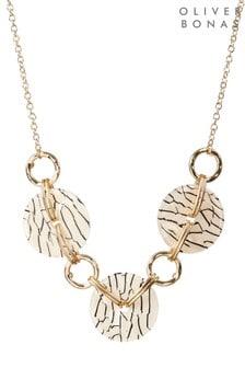 Oliver Bonas Utopia Textured Resin Link Collar Necklace