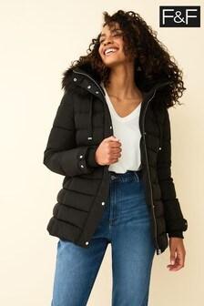 F&F Black Padded Coat