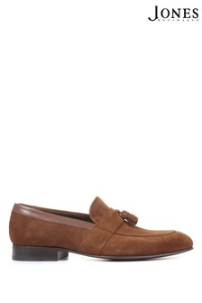 Jones Bootmaker Mens Brown Richmond Leather Suede Penny Loafers