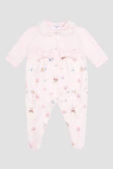 Monnalisa Baby Pink Sleepsuit