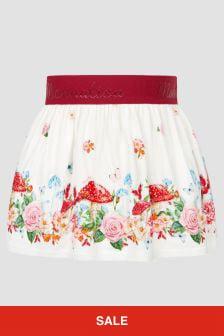 Monnalisa Baby Girls Cream Skirt