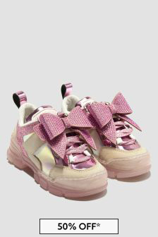 Monnalisa Girls Pink Trainers