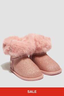 Monnalisa Girls Pink Boots