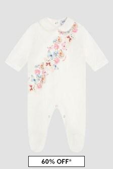 Monnalisa Baby Girls Cream Sleepsuit