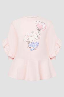 Monnalisa Baby Pink Dress