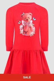 Monnalisa Girls Red Dress