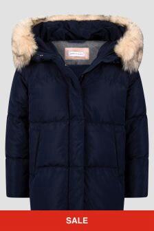 Monnalisa Girls Navy Jacket