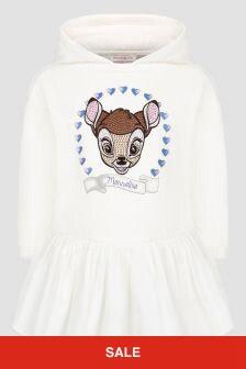 Monnalisa Girls Cream Dress