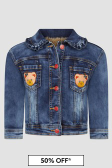 Monnalisa Girls Blue Jacket
