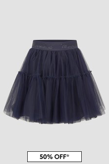 Monnalisa Girls Navy Skirt