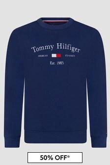 Tommy Hilfiger Boys Navy Sweat Top