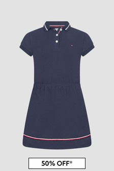 Tommy Hilfiger Girls Navy Dress