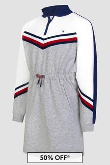 Tommy Hilfiger Girls Grey Dress