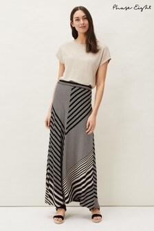 Phase Eight Black Roz Stripe Maxi Skirt