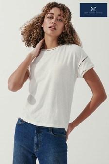 Crew Clothing Company White Eva T-Shirt
