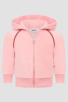 Molo Baby Girls Pink Hoodie