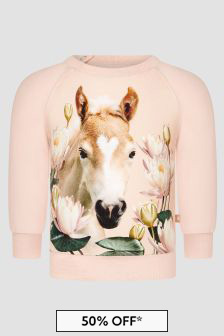 Molo Baby Girls Pink T-Shirt