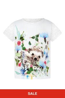 Molo Baby Girls Grey T-Shirt