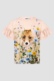 Molo Girls Pink T-Shirt