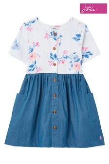Joules Liddie Luxe Button Through Smock Dress