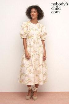 Nobody's Child Cream Rachel Midi Dress