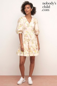 Nobody's Child Cream Floral Mini Dress