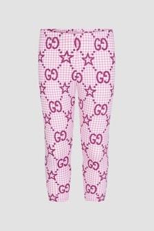 GUCCI Kids Baby Girls Pink Leggings