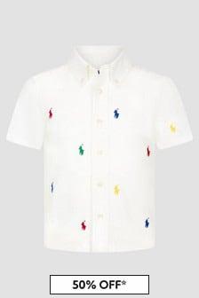 Ralph Lauren Kids Boys White Shirt