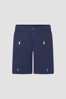 Ralph Lauren Kids Boys Navy Shorts