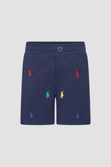 Ralph Lauren Kids Baby Boys Navy Shorts