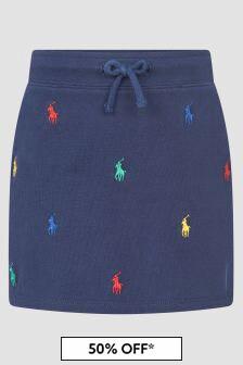 Ralph Lauren Kids Navy Skirt