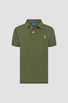Ralph Lauren Kids Boys Khaki Polo Shirt