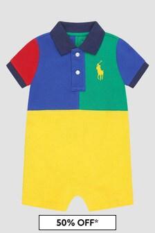 Ralph Lauren Kids Multicolour Rompersuit