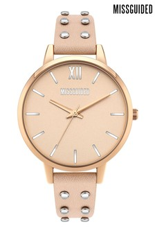 Missguided Nude & Rose Gold Watch