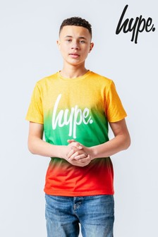 Hype. Yellow Tropical Speckle Fade Kids T-Shirt