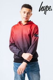 Hype. Red Speckle Fade Kids Overhead Hoodie