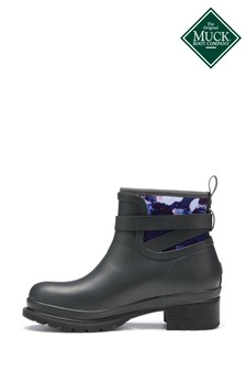 Muck Boots Grey Liberty Rubber Ankle Boots