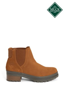 Muck Boots Tan Liberty Chelsea Ankle Boots