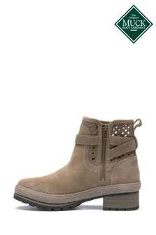 Muck Boots Grey Liberty Perforated Leather Boots