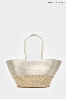 Mint Velvet Rosie Woven Straw Basket Bag