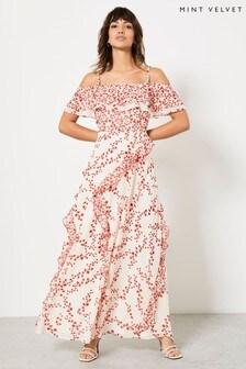 Mint Velvet Amanda Bardot Maxi Dress