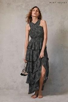 Mint Velvet Celeste Ruffled Maxi Dress