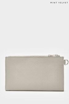 Mint Velvet Grey Leather Multi Purse