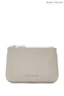 Mint Velvet Grey Leather Pouch