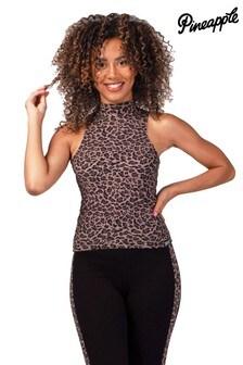 Pineapple Leopard Print Barbarella Vest