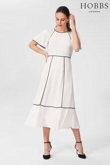 Hobbs White Lucilla Dress