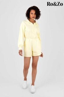 Ro&Zo Yellow Balloon Sleeve Cotton Playsuit