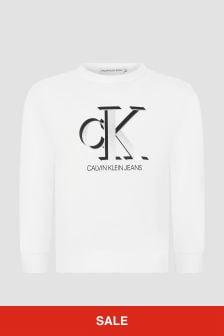 Calvin Klein Jeans White Sweat Top