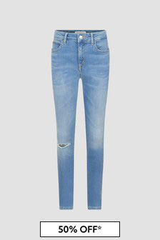 Calvin Klein Jeans Girls Blue Jeans