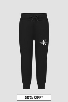 Calvin Klein Jeans Boys Black Joggers